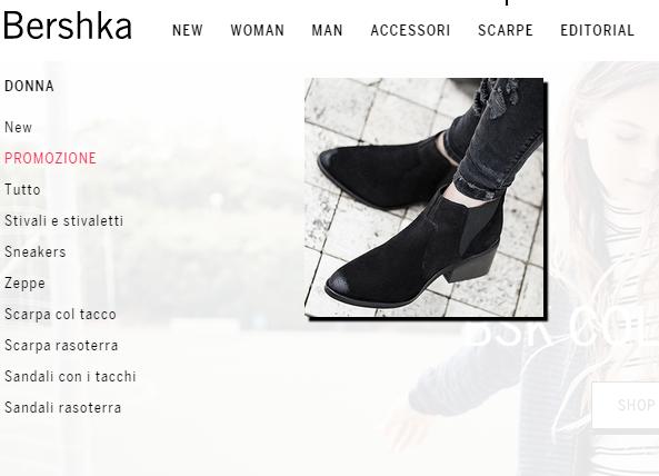 Bershka scarpe