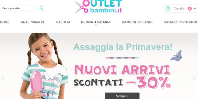 Outlet Bambini 2016: online saldi abbigliamento grandi firme