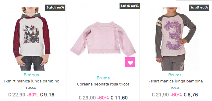 Outlet Bambini online