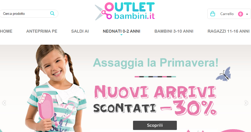 Outlet online Bambini