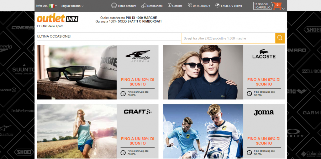 newest 1126a decd4 Outletinn abbigliamento sportivo online, opinioni e marche