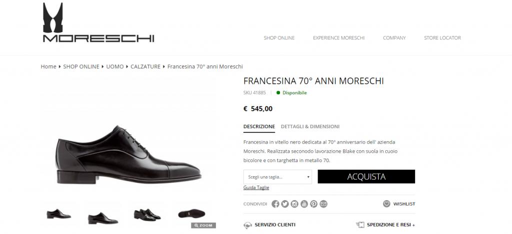 competitive price 028d8 6e3af Moreschi scarpe uomo online, saldi, offerte e outlet
