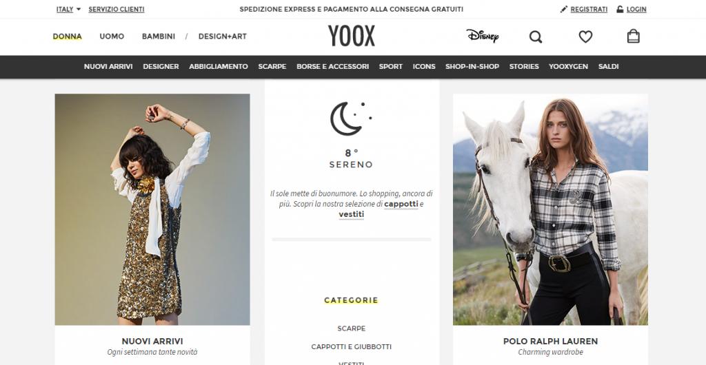 yoox 2017 abbigliamento