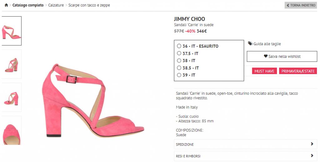 glamest scarpe